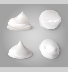 realistic cream foam white mousse or foaming milk vector image