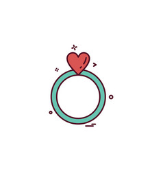 ring icon design vector image