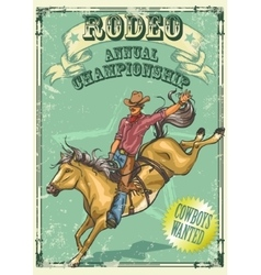 Rodeo Poster with sample text vector