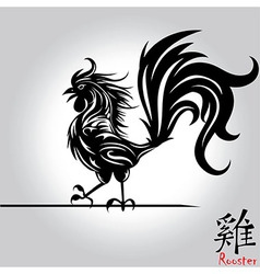 Rooster bird tattoo chinese new year rooster vector