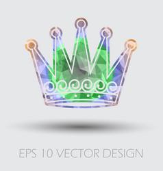 Royal crown graphic design element vector