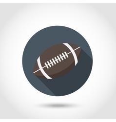 Rugball icon vector