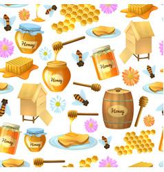 seamless honey background vector image