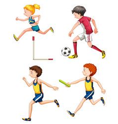 Set different sporting people vector