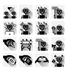set of chatbot icons concept of chat bot or vector image