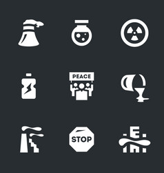 Set of enviroment polution icons vector