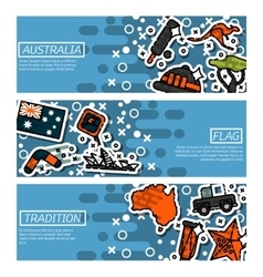 Set of Horizontal Banners about Australia vector image