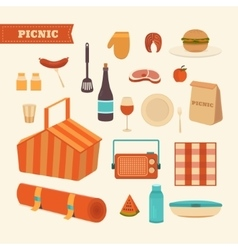 Set of summer picnic vector
