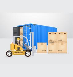 Shipping transportation concept vector