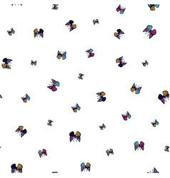 small colorful butterflies seamless pattern vector image