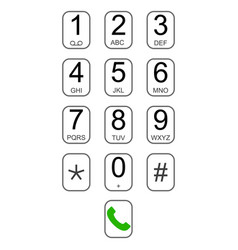 smartphone keypad dialer with buttons user vector image