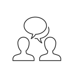 speaking people outline icon on white background vector image