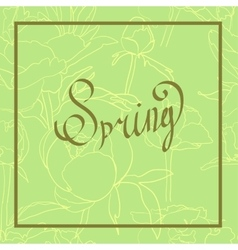 Spring word flowers vector image
