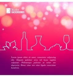 style line vine design vector image