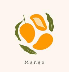 Stylish mango design contemporary art print vector