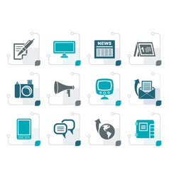 Stylized communication channels and social media i vector