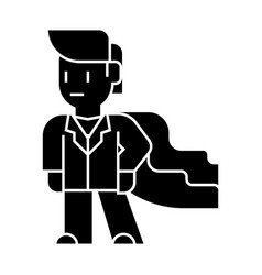 super hero businessman icon vector image