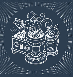 Traditional magi offerings black vector