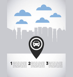 Transport service app technology icon vector