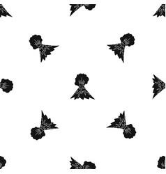 volcano erupting pattern seamless black vector image
