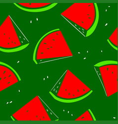 watermelon seamless pattern background with fresh vector image