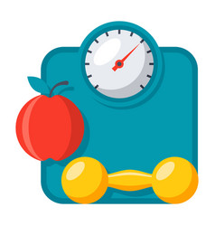 weight management icon vector image