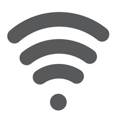 wi-fi glyph icon wireless and communication vector image