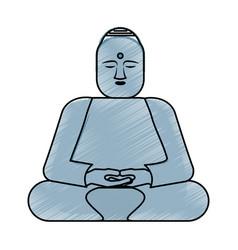 Buddha statue asian culture vector