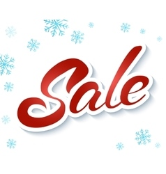 Lettering winter sale vector image