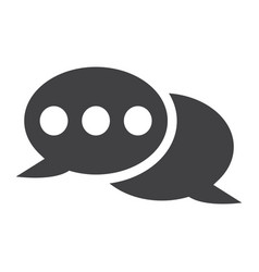 speech bubble solid icon chat and website vector image vector image
