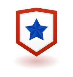 Super hero shield vector image vector image