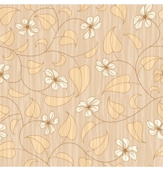 abstract beige floral seamless background vector image vector image