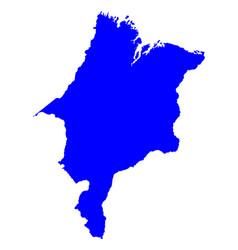 Map of maranhao vector
