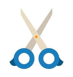 Scissors on white vector image