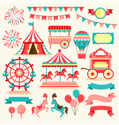 Carnival elements vector