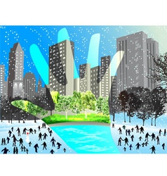 contrast winter and summer vector image vector image