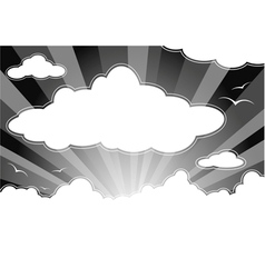 dark sky with clouds vector image vector image