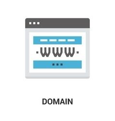 domain icon concept vector image vector image