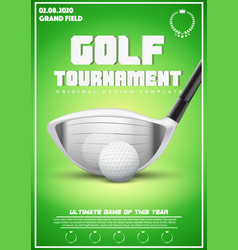 poster template of golf tournament vector image