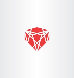 red crystal stone gem icon vector image