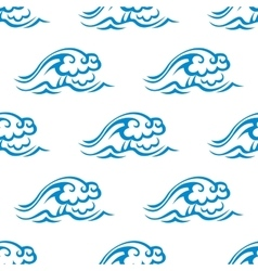 Seamless pattern of blue sea waves vector image