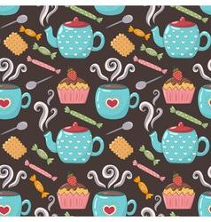 Tea sweet seamless pattern vector image