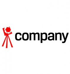 tripod camera logo vector image vector image