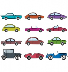 vintage cars icons vector image vector image