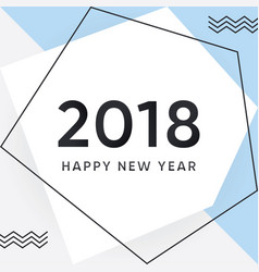 2018 happy new year card and background vector image