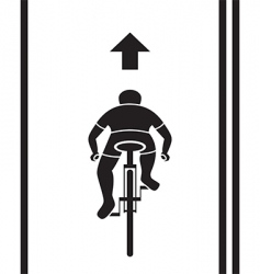 bicycle path sign vector image vector image