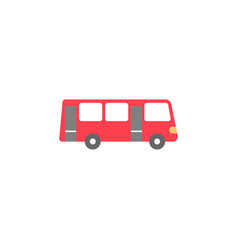 bus solid icon navigation and transport sign vector image