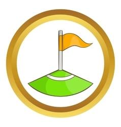 Corner flag on soccer field icon vector