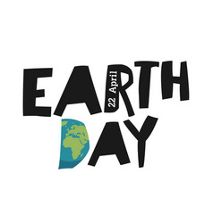 earth day ecology logotype template earth planet vector image vector image
