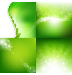 eco natural backgrounds set vector image vector image